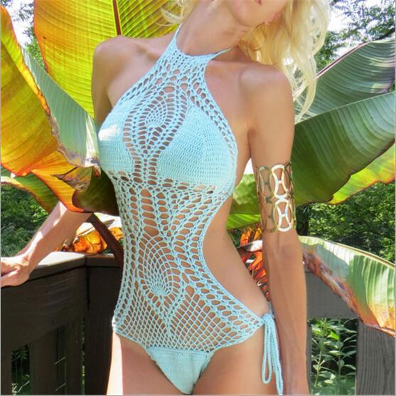 f593e7cd0ded 2017 Sexy Women Bathing Suit Lace Hollow Crochet Bikini Cover Up Swimwear  Summer Beach Dress Fashionable
