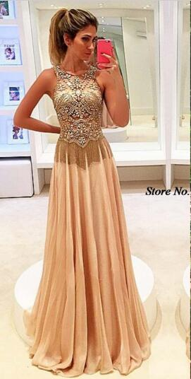 79873e1805 2017 Noble Women s Fashion Ball Dress Beaded Floor Length Cocktail Dress  Pleated Evening Dress Sleeveless Hooded