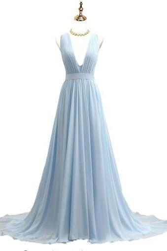 Evening Dress Chiffon Long Sleeve V Neck Short Sleeveless Prom Evening Formal Dresses Dress