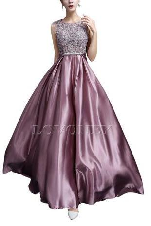2017 Elegant A word halter satin decals long evening dress evening dress evening dress